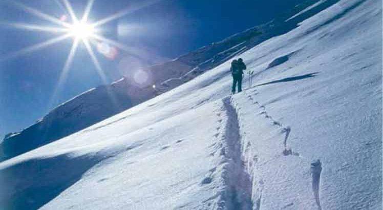 Wintersport rond Steinach am Brenner.